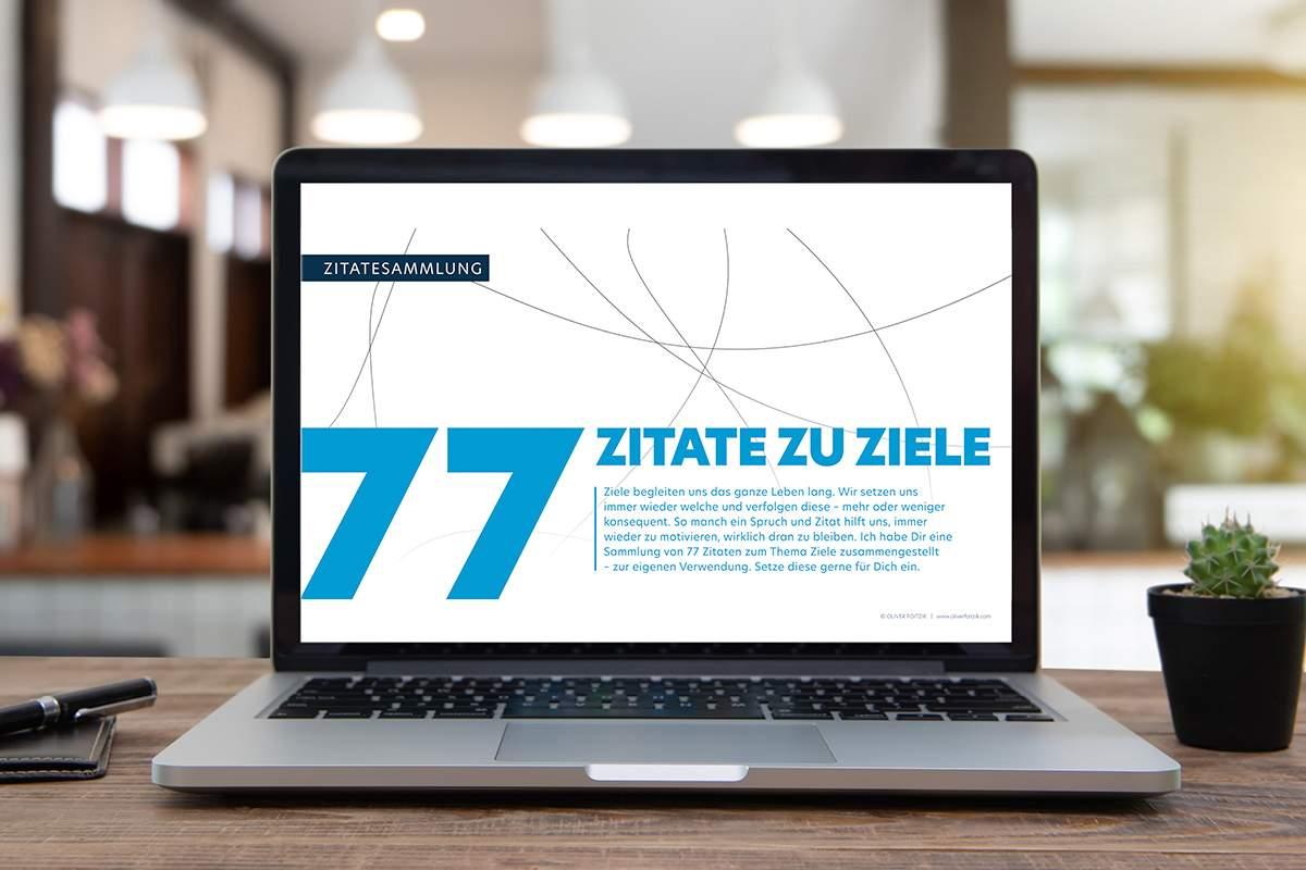 """Vorschaubild zur kostenfreien Zitatesammlung """"77 Zitate zu Ziele"""""""